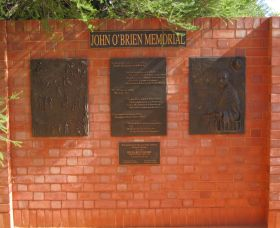 John OBrien Commemorative Wall - Wagga Wagga Accommodation