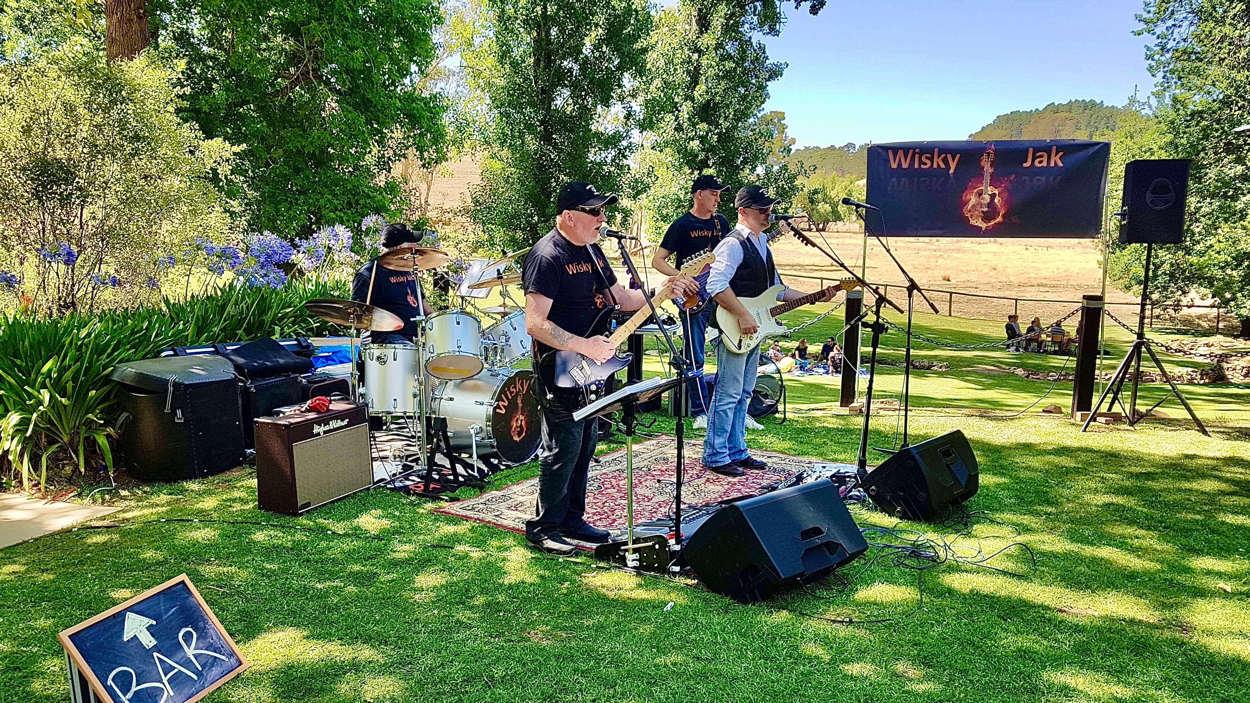 Angas Plains Wines Live in the Vines with the band -Wisky Jak - Wagga Wagga Accommodation