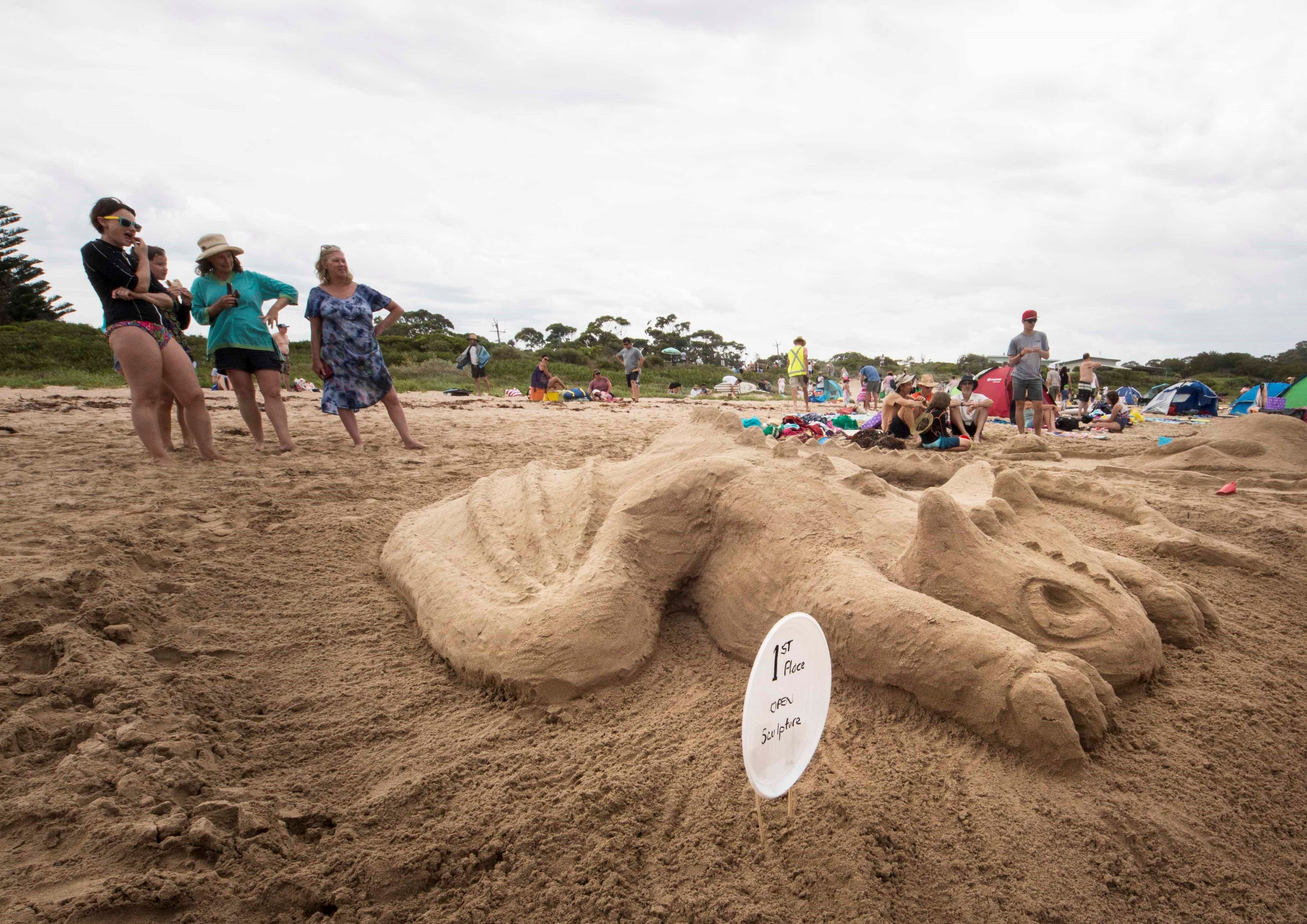 Broulee New Year's Eve Sandcastles and Sculptures - Wagga Wagga Accommodation
